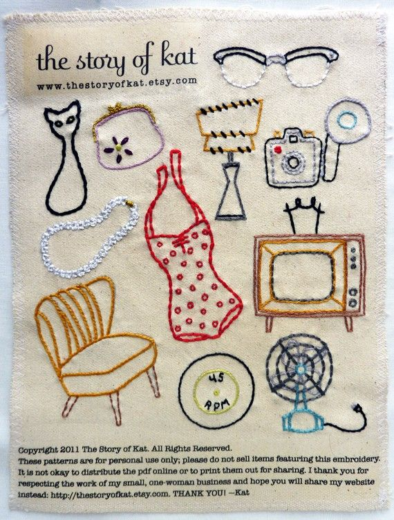 Vintage shop embroidery pattern. Love! #embroidery