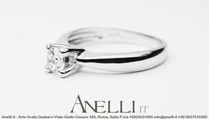 Anello con Diamante 0,25 carati F-VS1 ideale come regalo di fidanzamento, risultato assicurato! ^_^ #gioielliitalianinelmondo #compraungioiello