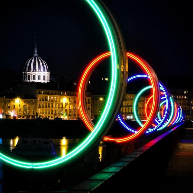 Les anneaux de Buren by petitlu via Flickr ~ Nantes, Bretagne