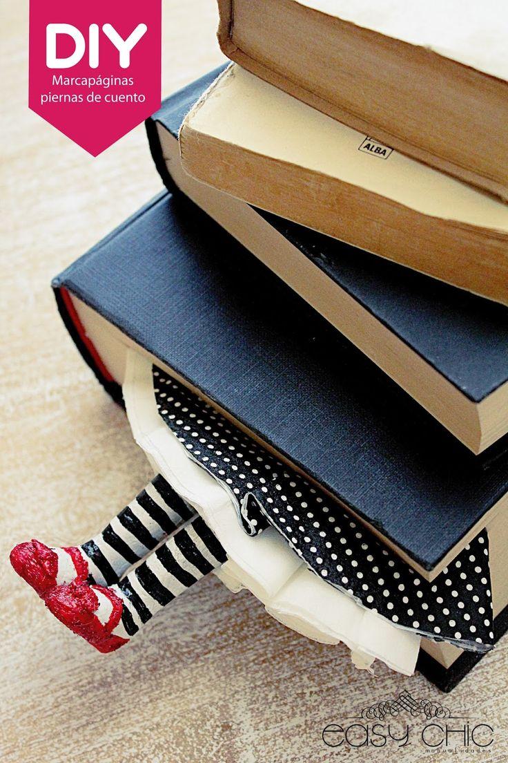 Wicked Witch Bookmarks / DIY: Como hacer con pasta de sal un marca páginas piernas que salen del cuento.