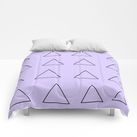 Qurky Triangles 2 Comforters by Bravely Optimistic | Society6