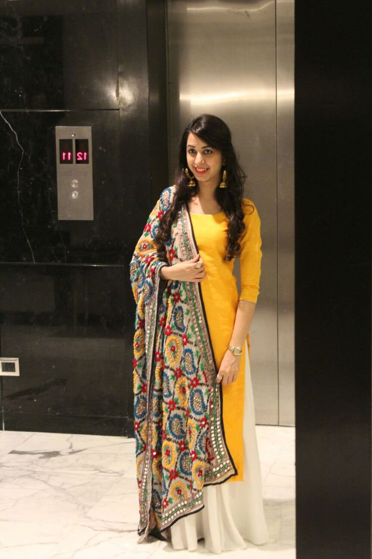 Check out this post - Back in time with the colorful phulkari; and add the glow with yellow created by Tanya Sethi and top similar posts, trendy products and pictures by celebrities and other users on Roposo.