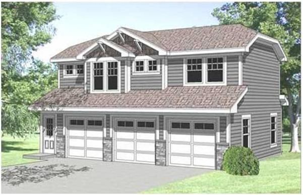 3 Car Garage With Loft Above 62517dj: 2-Car Garage With Apartment Plans, Garage Apartment