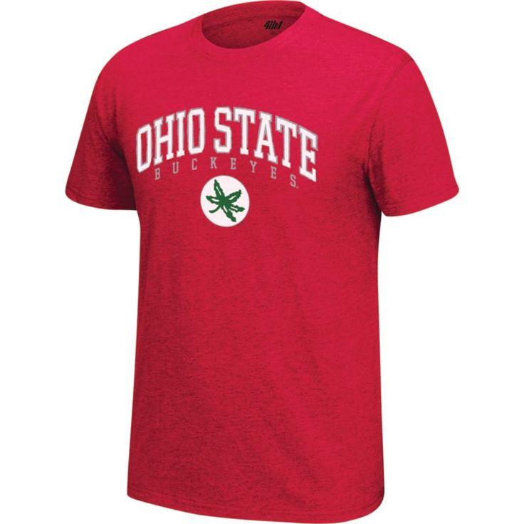 4th and 1 Men's Ohio State Buckeyes Scarlet Staple T-Shirt, Size: Medium, Team