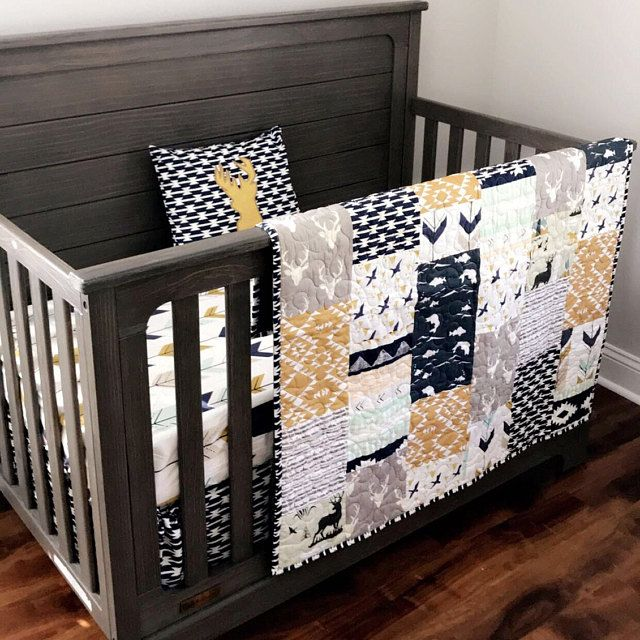 Baby Boy Bedding Crib Bedding Set Nursery Custom Noah Etsy In 2020 Crib Bedding Boy Baby Boy Bedding Woodland Baby Bedding