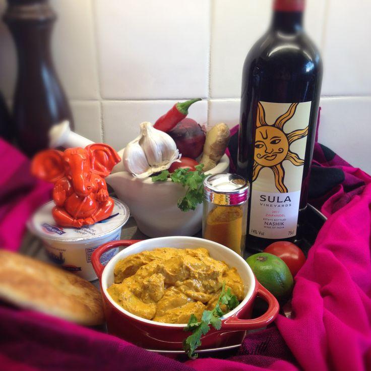 Kip tikka masala met rijst en naanbrood én Indiase wijn - Culy.nl