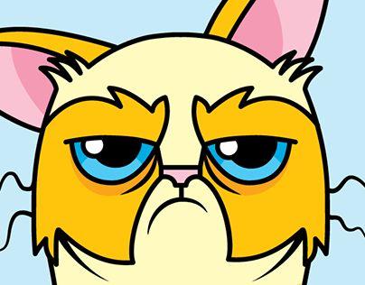 "Check out new work on my @Behance portfolio: ""Grumpy Cat"" http://be.net/gallery/63650341/Grumpy-Cat"
