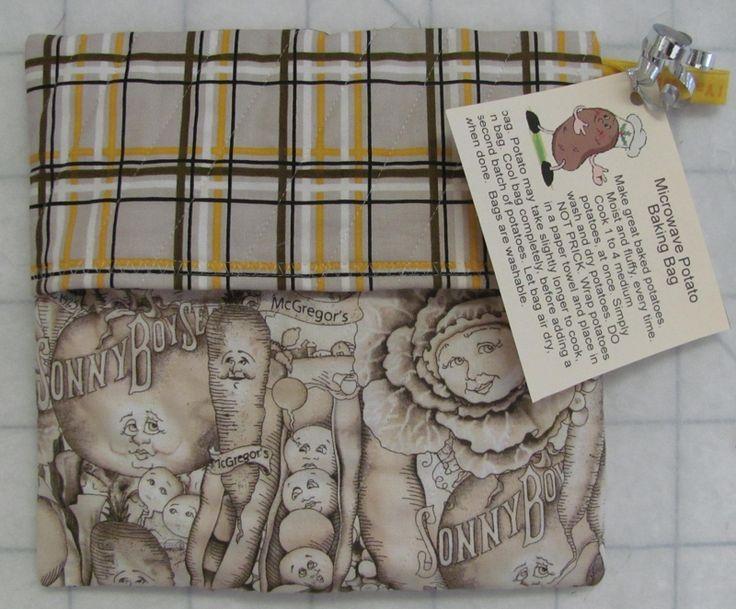 Potato Microwave Bag…Good printable tag to attach if giving potato bag as a gift