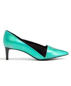 See by Chlo  Metallic Nubie Kitten Heels