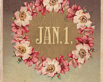A Happy New Year - Vintage Postcard #NewYearsDay #antiques #ephemera Just $3.75