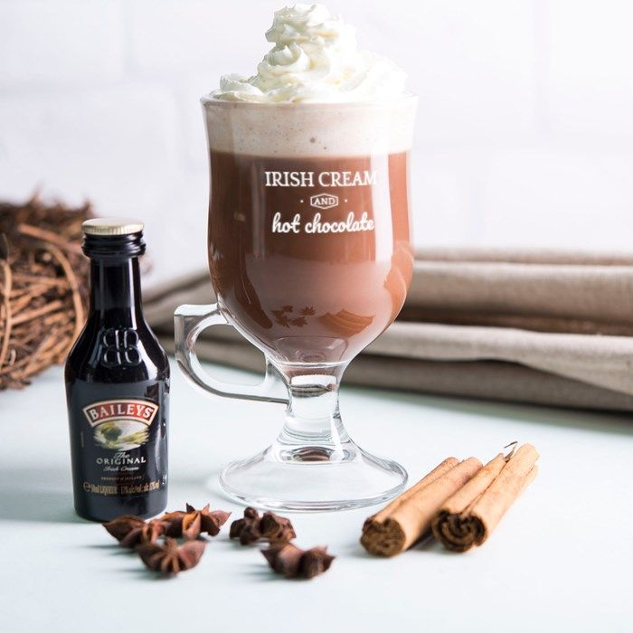 Personalised Irish Coffee Glass With Baileys Miniature - Irish Cream | GettingPersonal.co.uk
