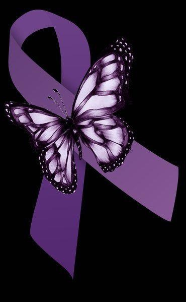Purple butterfly, purple ribbon are symbols of #fibromyalgia