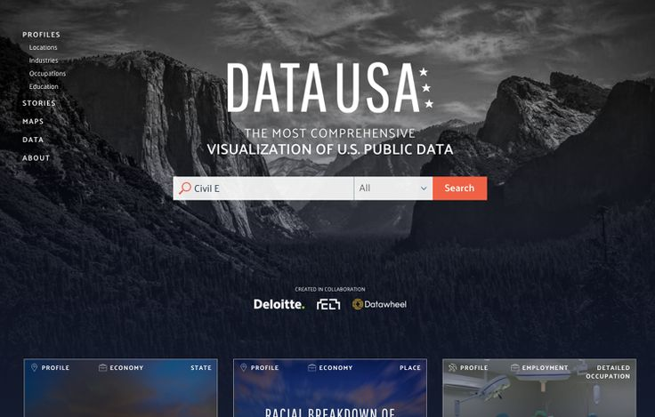 Data USA proves that census data can be beautiful, while simultaneously pulling it out of Google's blind spot: the deep web.