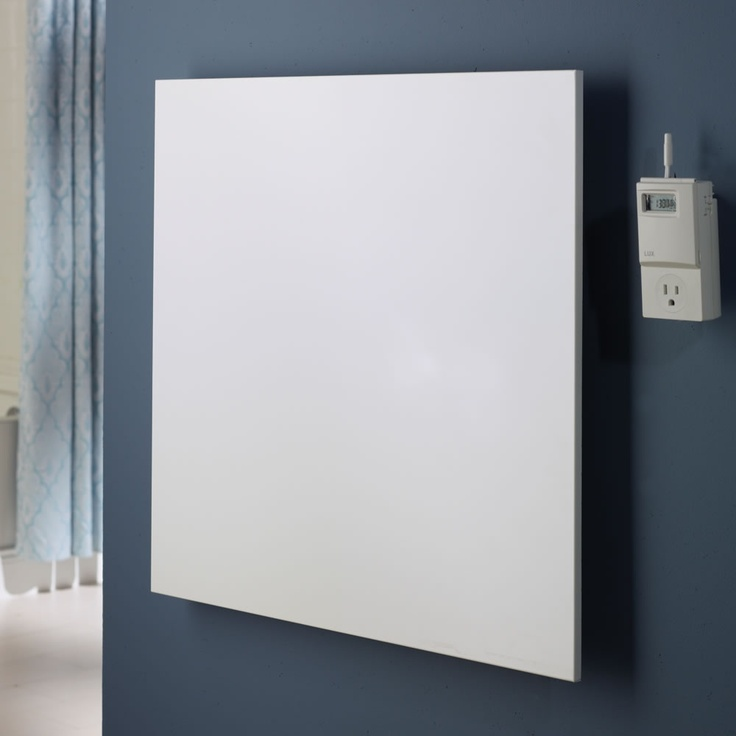 The Wall Mounted Thin Panel Infrared Heater - Hammacher Schlemmer - This is the unobtrusive infrared heater that mounts on a wall to supplement warmth without taking up precious floor space.