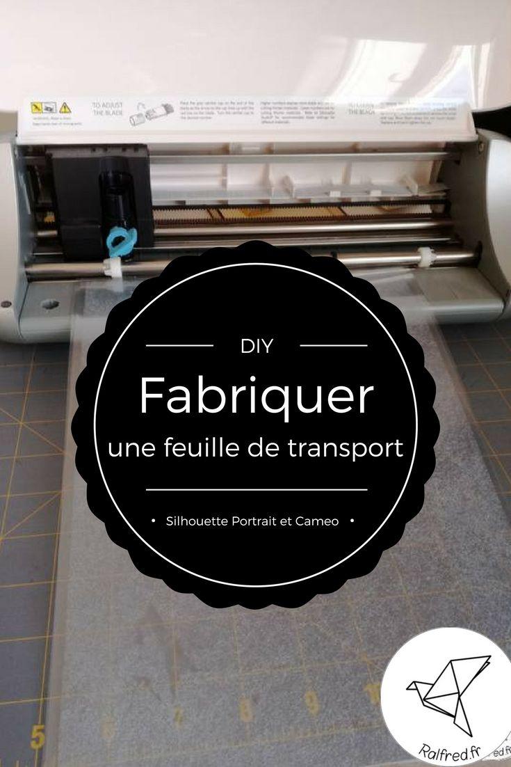 Tuto : fabriquer sa feuille de transport pour découpeuse Silhouette Portrait ou Cameo DIY