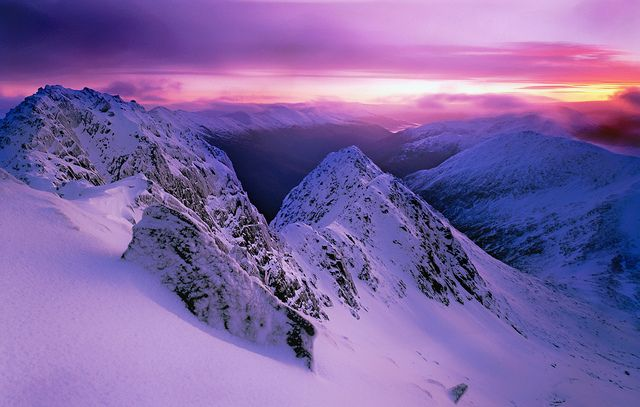 The Saddle, winter dawn mk2, via Flickr.