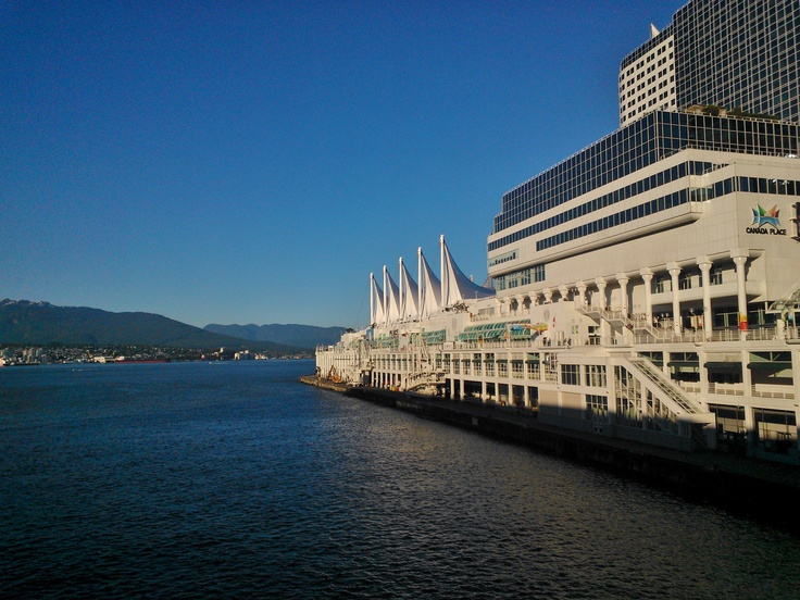 Vancouver on a sunny day in july. Canada Place.