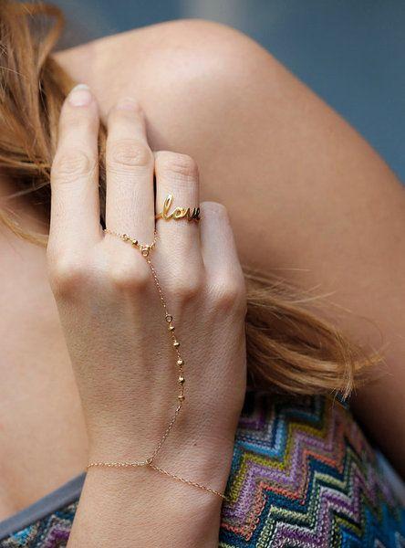 Armreife - Nugget Fingerschmuck, Goldnugget Handschmuck - ein Designerstück von MinimalVS bei DaWanda