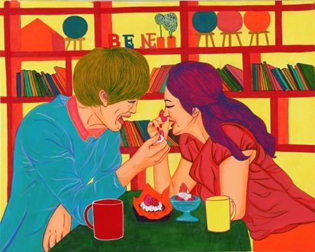 한국 작가 조은주의 작품. 현대 사회의 사랑의  모습을 잘 표현해 주고 있는 것  같다.