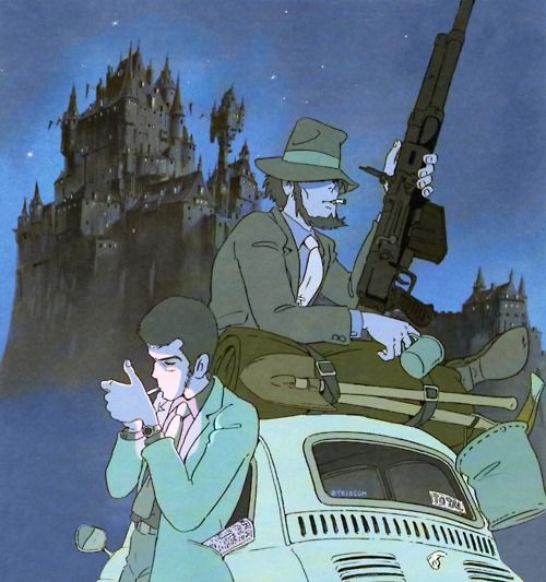 Lupin III and Jigen D. from the animated movie 'Cagliostro's Castle' A Must-See film!