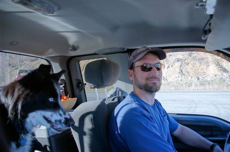 Ice Road Trucker Jack Jessee Guys with Critters Dog