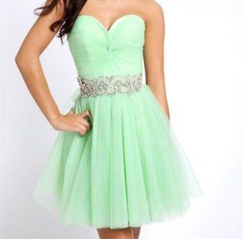 Lime strapless dress