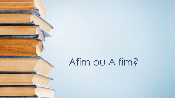 Dicas de Português: Afim ou A fim