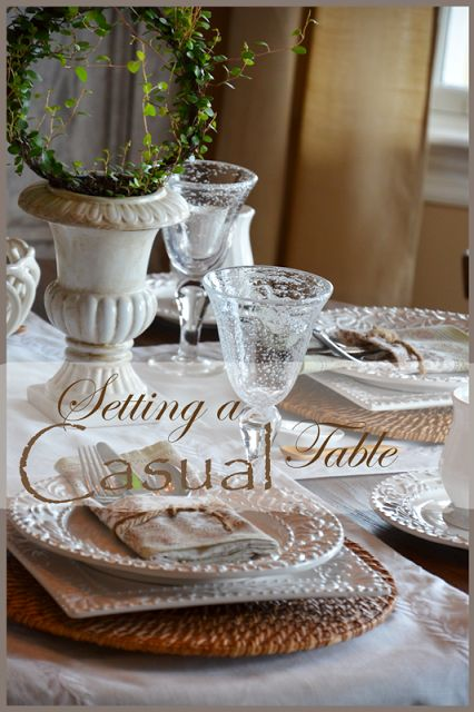 1000 ideas about casual table settings on pinterest. Black Bedroom Furniture Sets. Home Design Ideas