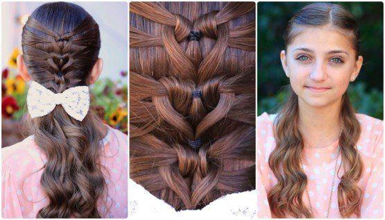 人魚の心の三つ編みヘアスタイルwonderfuldiyワンダフルDIYマーメイドハートブレイド髪型