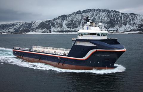 Artic Osv Workboat Heading To Sea Work Boats