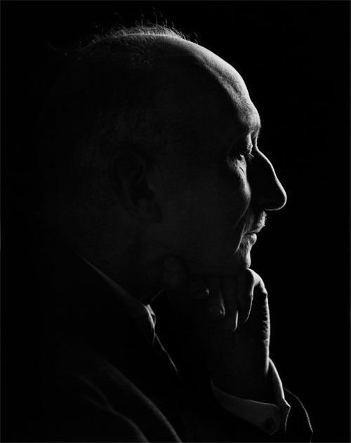 Yousef Karsh, François Mauriac, 1949 (taken indoors w/ light from window using bed sheet as reflector)