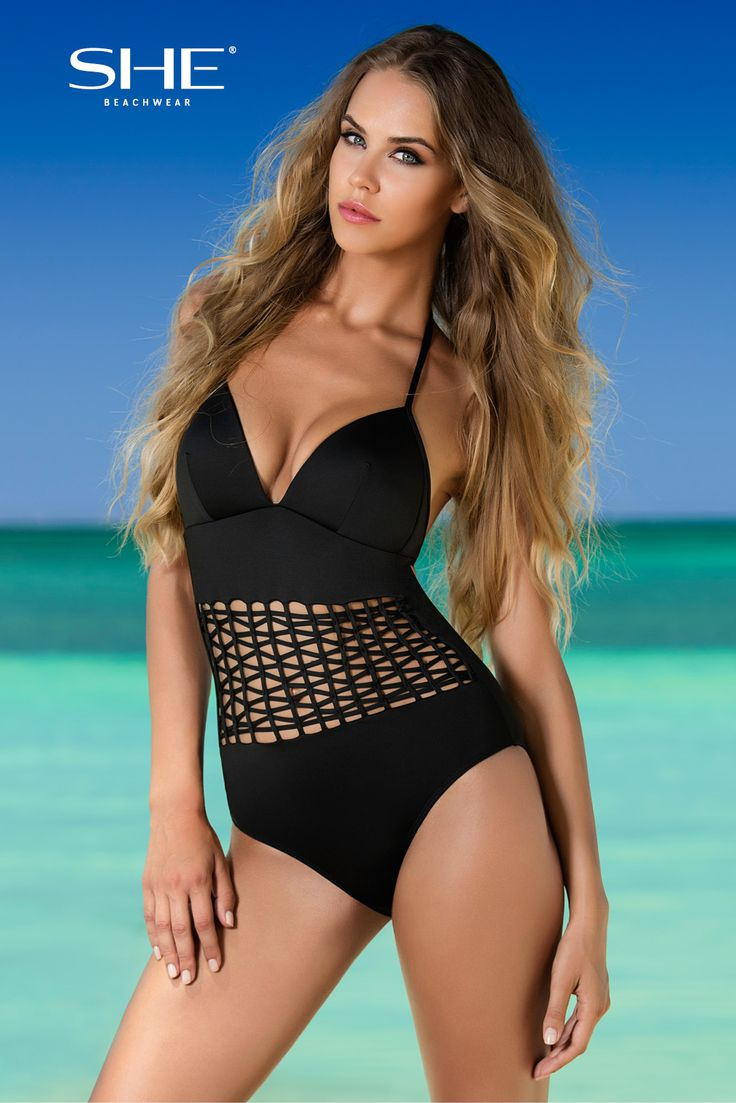 MARITA SWIMSUIT. You will certainly feel comfortable in your MARITA swimsuit! The bra with the softly padded cups and detachable push-ups, ties around the neck and clasped on the back. Fully covered bottom with amazing insert of criss-cross lines helps to mask body's disadvantages.