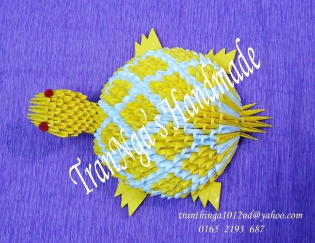 Tortoise 3d origami pinterest tortue - Origami 3d animaux ...