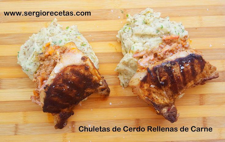 Sergio benito recetas chuletas de cerdo rellenas de carne for Ideas para cocinar