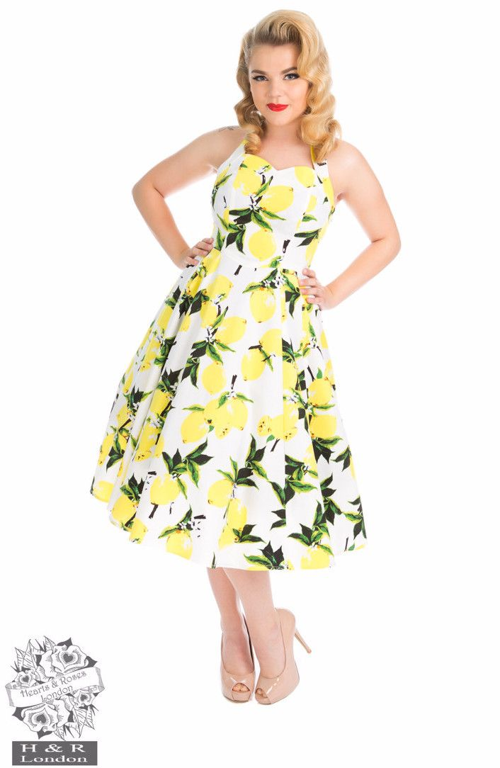products hearts roses lemon halter dress