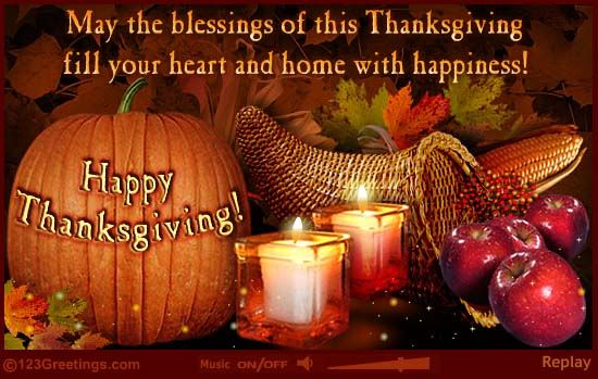 Free Thanksgiving Greeting Cards! | ... Friends Cards, Free Thanksgiving Friends eCards | 123 Greetings