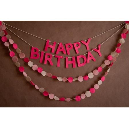 Felt Birthday Sign and Streamers