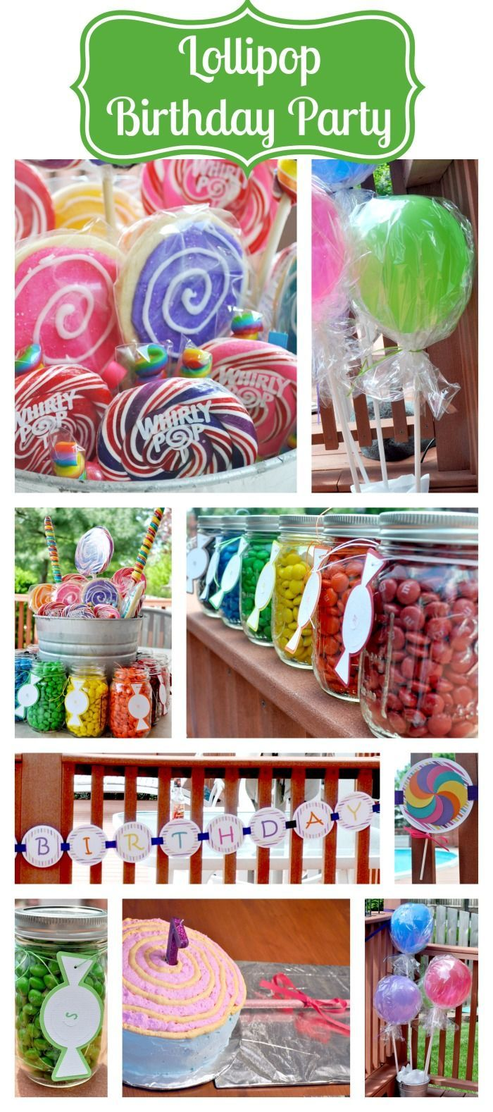 Lots of fun details for this Lollipop Birthday Party {The Love Nerds} #birthdayparty #lollipopparty