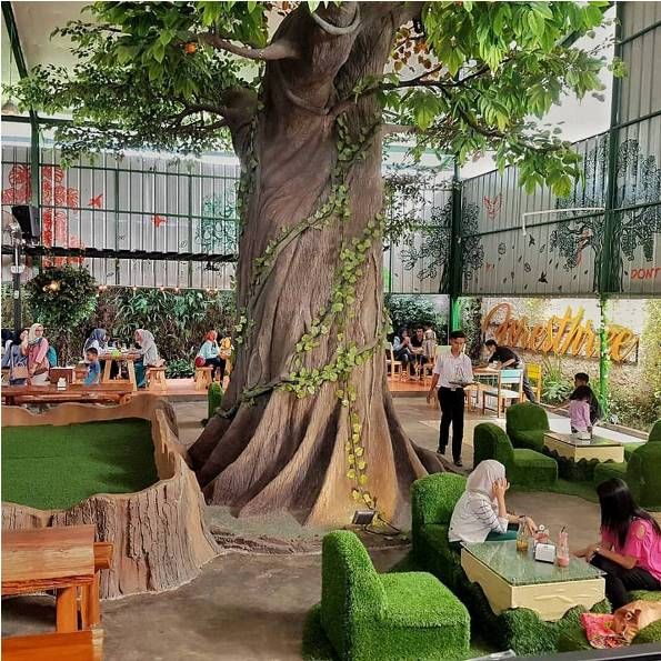 This Holiday Is Delicious Eating Together In Bogor Indonesia There Is A Cafe With A Instagramable With A Greenhouse Like Shape To Indonesia Bogor Sightseeing
