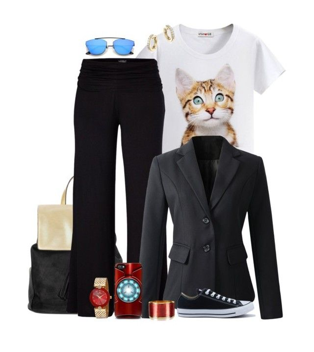 """""""Under-roos, need a ride?"""" by leighanned ❤ liked on Polyvore featuring Deux Lux, Venus, Converse, Dsquared2 and Bloomingdale's"""