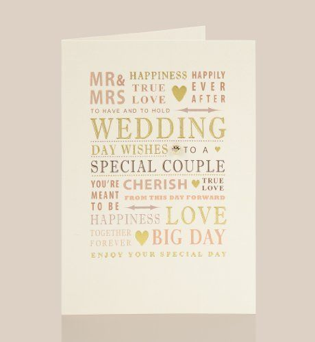 Text Card Wedding Cards and Gifts Pinterest Marks & Spencer ...