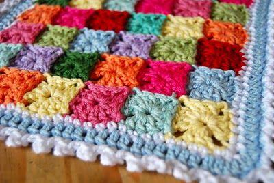 mini granny squares. so cute.Crochet Blankets, Baby Afghans, Granny Squares Blankets, Crochet Granny Squares, Tiny Granny, Crochet Squares,  Dishcloth, Baby Blankets, Pastel Colors