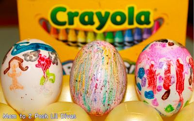 melted crayon easter eggs - so fun & easy to do!