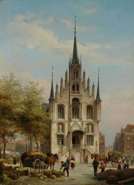 Stadhuis Gouda 1882 Christiaan van Dommelshuizen