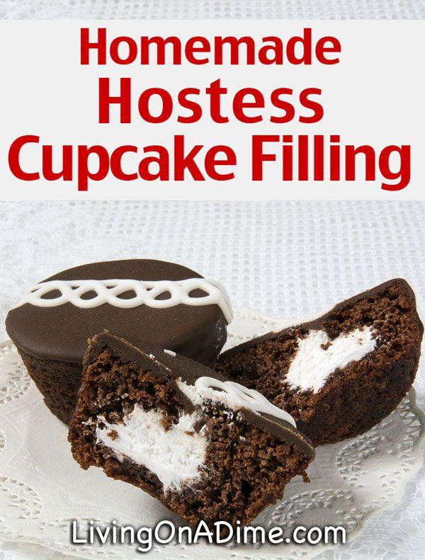 Homemade Hostess Cupcake Filling Recipe - 10 Of The BEST Cupcake Recipes