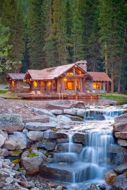 Amazingly Designed Log Houses -- i'm not choosey... i'll take any one of these!!!!!!!