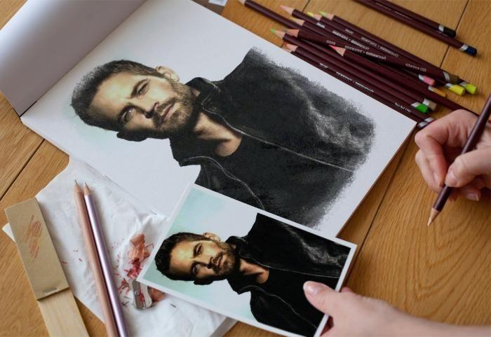 Wow!...drawing of Paul Walker