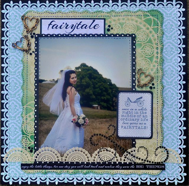 A Layout made using the Something Blue Collection from Kaisercraft By Kelly-ann Oosterbeek