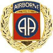 U.S. Army 82nd Airborne Division w/ Wreath pin - Meach's Military Memorabilia & More