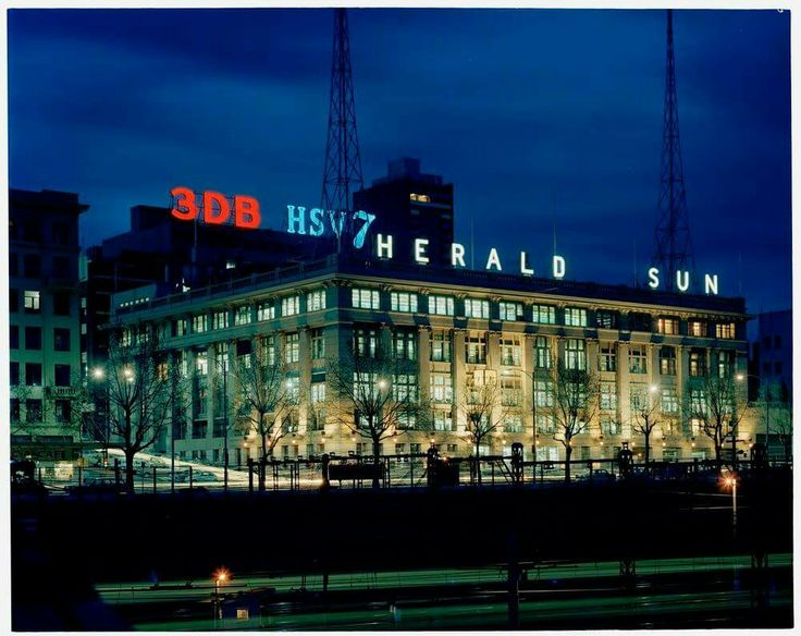 Fabulous photo of the Herald and Weekly Times building in Flinders Street, taken in 1971 by Mark Strizic. State Library of Victoria Image H2011.55/1411